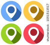map label icon. set of white... | Shutterstock .eps vector #1051513517