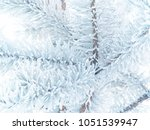 fir tree branches covered with... | Shutterstock . vector #1051539947