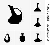 wine decanters icons | Shutterstock .eps vector #1051542047