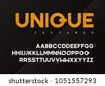 unique vector grunge textured... | Shutterstock .eps vector #1051557293