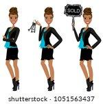 realtor avatar   clip art  ... | Shutterstock .eps vector #1051563437