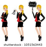 realtor avatar   clip art  ... | Shutterstock .eps vector #1051563443