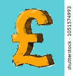 icon british currency sign...   Shutterstock .eps vector #1051574993