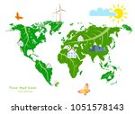 ecological concept development... | Shutterstock .eps vector #1051578143