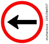 go left by the arrow red circle ... | Shutterstock .eps vector #1051586927