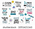 my universe love star moon... | Shutterstock .eps vector #1051621163