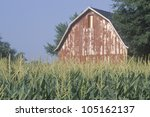 Midwestern Farm With Barn And...