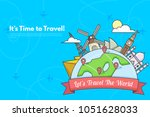it s time to travel.trip to...   Shutterstock .eps vector #1051628033