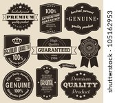 a set of vintage design labels... | Shutterstock .eps vector #105162953
