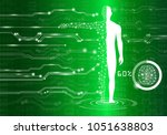abstract background technology... | Shutterstock .eps vector #1051638803