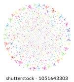 bright big bang explosion... | Shutterstock .eps vector #1051643303