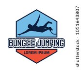bungee jumping logo with text... | Shutterstock .eps vector #1051643807