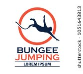 bungee jumping logo with text... | Shutterstock .eps vector #1051643813