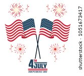 usa independence day card | Shutterstock .eps vector #1051673417