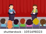 illustration of stickman kids...   Shutterstock .eps vector #1051698323