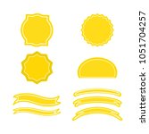 a set of labels. isolated icons.... | Shutterstock .eps vector #1051704257