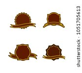 a set of labels. isolated icons.... | Shutterstock .eps vector #1051705613