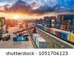 business logistics and... | Shutterstock . vector #1051706123