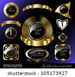 retro vector golden framed... | Shutterstock .eps vector #105173927