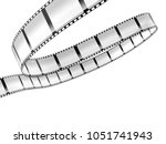 film strip isolated on white...   Shutterstock . vector #1051741943
