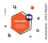 social media infographic icon | Shutterstock .eps vector #1051786067
