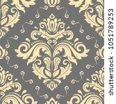damask classic pattern....   Shutterstock . vector #1051789253