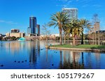 orlando lake eola in the... | Shutterstock . vector #105179267