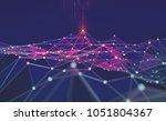 global network. blockchain. 3d...   Shutterstock . vector #1051804367