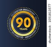 90 years of celebrations vector  | Shutterstock .eps vector #1051813577