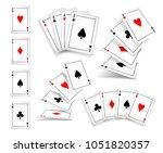 several variants set of four... | Shutterstock . vector #1051820357