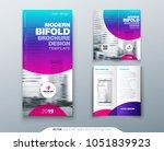 bi fold brochure design. cool... | Shutterstock .eps vector #1051839923