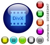 divx movie format icons on... | Shutterstock .eps vector #1051853447