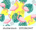tropical seamless pattern with... | Shutterstock .eps vector #1051862447