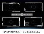 hud hi tech futuristic white...   Shutterstock .eps vector #1051863167
