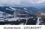 ski resort jasna slovakia... | Shutterstock . vector #1051863497