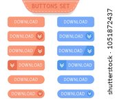 download buttons set.... | Shutterstock .eps vector #1051872437