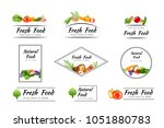vegetables. design collection... | Shutterstock .eps vector #1051880783