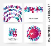 health care design collection.... | Shutterstock .eps vector #1051883357