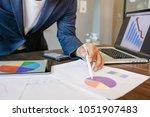 side view shot of a man's hands ... | Shutterstock . vector #1051907483