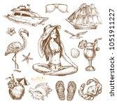 hand drawn sketch illustration... | Shutterstock .eps vector #1051911227