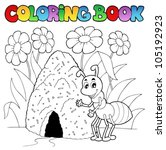 animal,ant,antenna,antheap,anthill,art,artwork,book,cartoon,cheerful,clipart,coloring,colouring,contour,cute