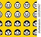 Emotions. Seamless Pattern.