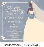 wedding invitation template... | Shutterstock .eps vector #105194603