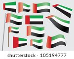 set of flags of the united arab ...   Shutterstock .eps vector #105194777