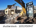 demolition of an old... | Shutterstock . vector #1051950947