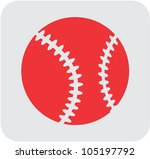 Creative Baseball Icon - stock vector