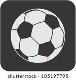Creative Soccer Ball Icon - stock vector