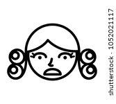 perm hair style illustration | Shutterstock .eps vector #1052021117