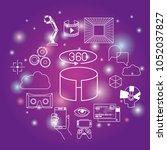 futuristic technology gadget... | Shutterstock .eps vector #1052037827