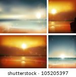 seascape backgrounds. vector... | Shutterstock .eps vector #105205397